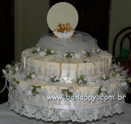 Sugestão de bolo primeira comunhão ou batizado - Clique pra ver a caixinha